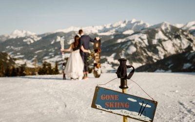 Skiing & snowboarding at Zell am See wedding