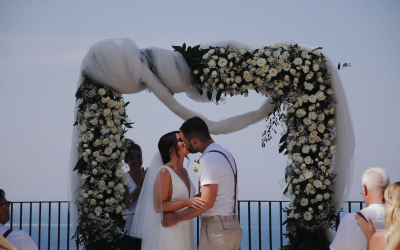 A Romantic clifftop Wedding on the Amalfi Coast