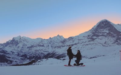 A Magical Snowy Mountain Proposal in the Swiss Alps