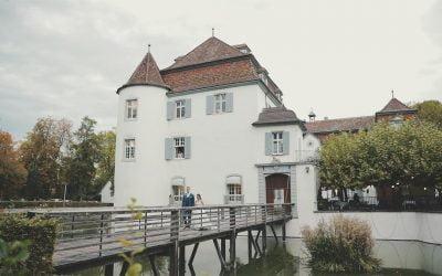 Mariage d'automne féerique dans un superbe château suisse